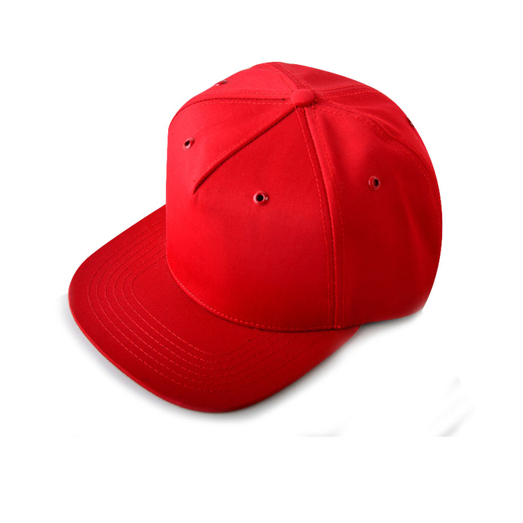 Wholesale 5 Panel Cotton High Quality Red Blank Women Snapback Hat