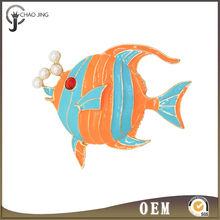 fashion fish scarf buckle christmas pins , cheap enamel brooches wholesale