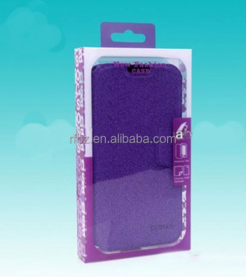 Soft Crease Auto Bottom Clear Plastic mobile phone case Packaging Box,Plastic us charger Box