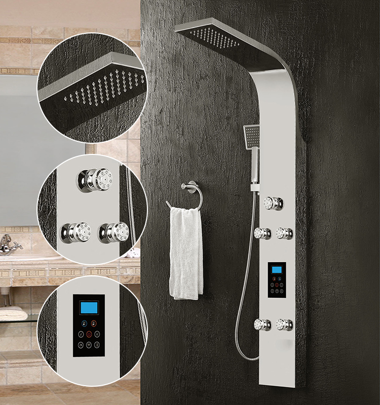 Constant Water Outlet Bath Shower Column With Automatic Sensors Shower Panels Systems With Suitable Power