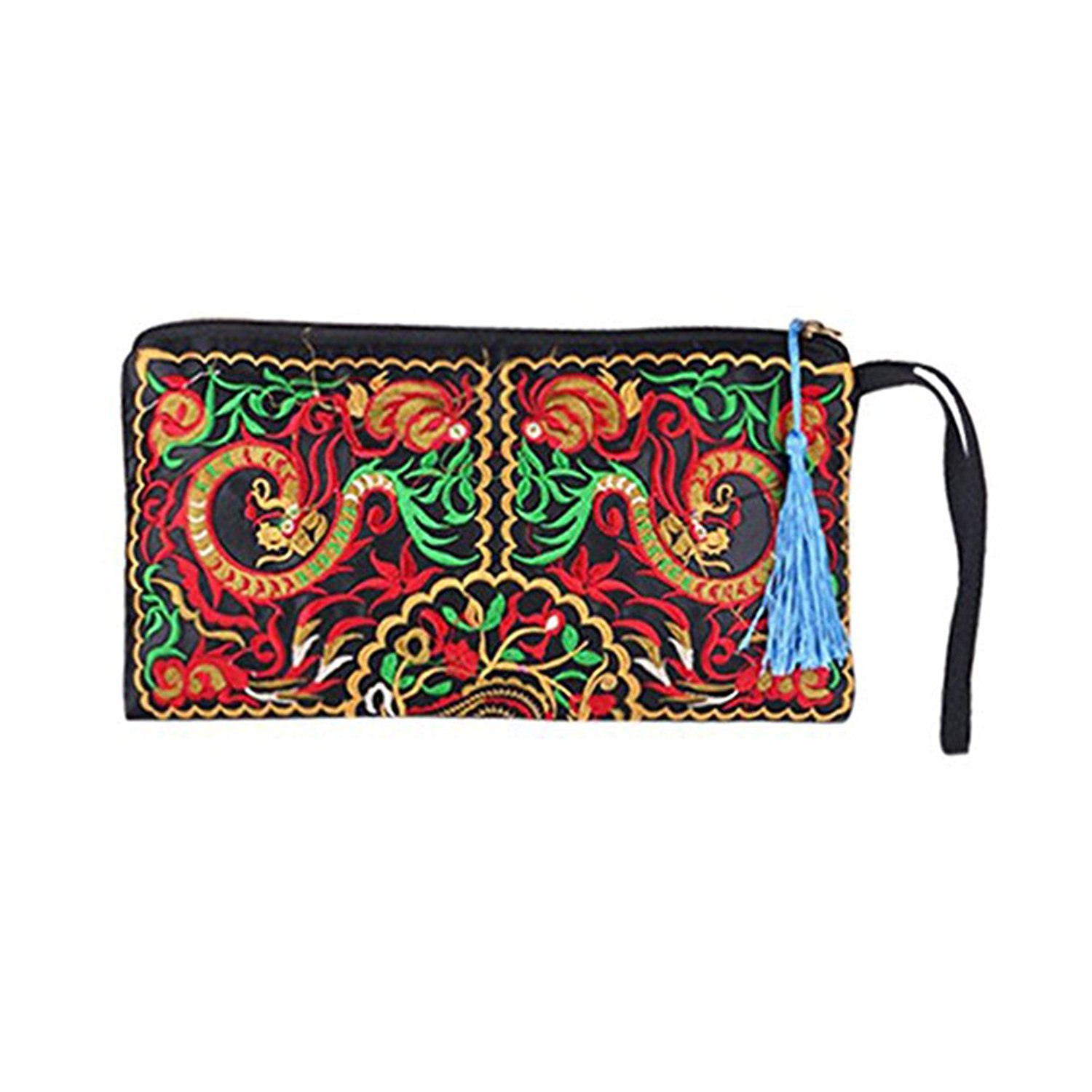 Tinksky Bag Purse Tinksky Retro Ethnic Embroider Wallet Pouch, Gifts for Mothers or gift for women girls (Dragon)