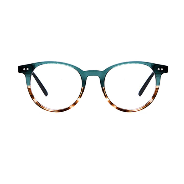 SRA205 two color round tortoise unisex optical acetate frames, Pic or customized