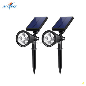 LED Solar Garden Lamp Spot Light Outdoor Lawn Landscape Spotlight Light