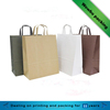 environmental Custom printed food grocery shopping brown kraft paper bag for food packaging