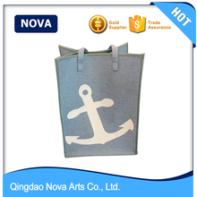 New style canvas logo laundry tote bag
