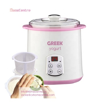 Automatic LED digital time and temperature control Greek Yogurt Maker with strainer
