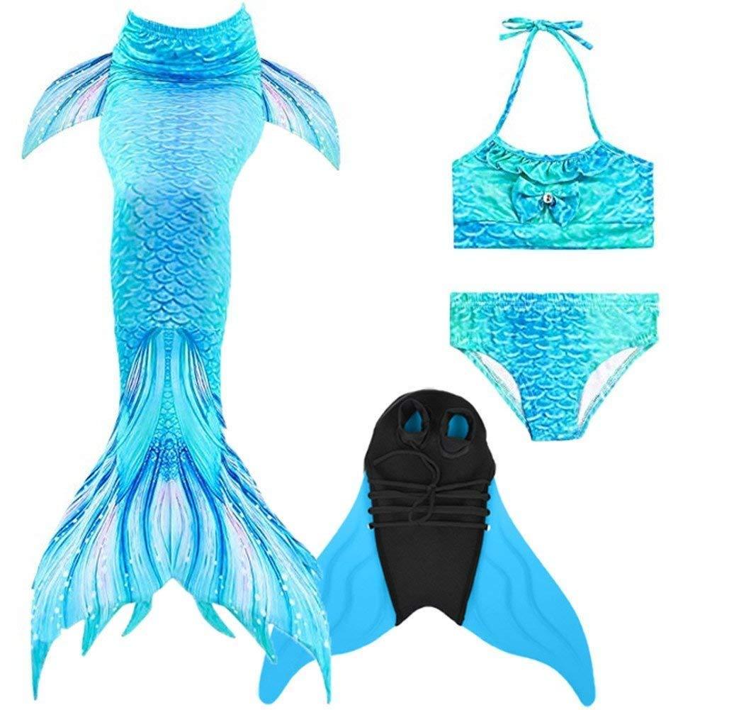 1503b371cabae Get Quotations · Stimmt Mermaid Tail Princess Sea-Maid Swimming Set Kids Bikini  Swimsuit Set Swimwear for Girl