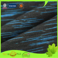 knitted space dye polyester fabric for sport jersey