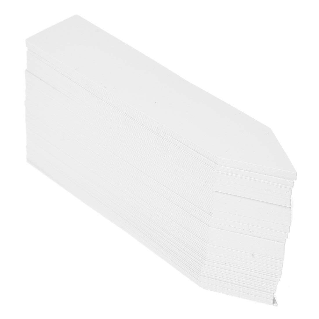 TOOGOO(R) 100 Pcs Plastic Plant Seed Labels Pot Marker Nursery Garden Stake Tags 10cm x 2cm (White)