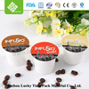Laminate plastic material k-cup coffee packaging