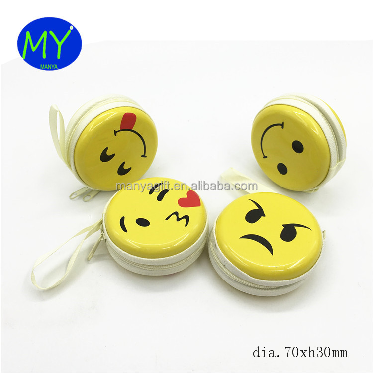 2018 new sty;le emoji zipper coin purse from china supplier