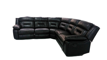 Living Room Rosewood Sofa Set Big Black And White Leather Corner ...