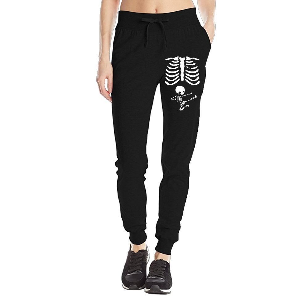 e1dccea378781 Get Quotations · Skeleton Pregnant Women's Sweatpants Jersey Pocket Pant  Drawstring Training Sports Yoga Jogger Pants With Pockets