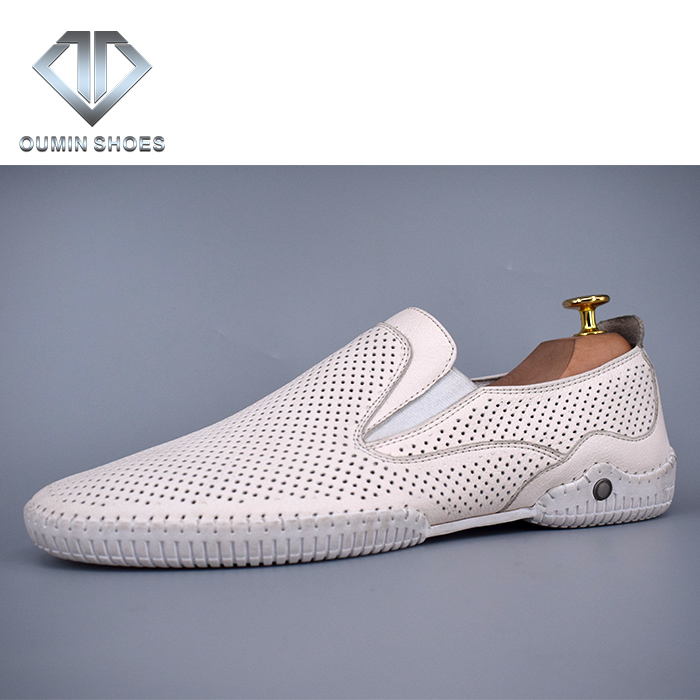 Shoes the Casual genuine leather in design color white last Men A6Cwqf5C