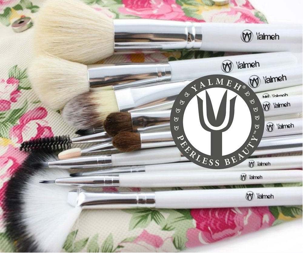 YALMEH Professional Makeup Brush Set| Pro Cosmetic 12-Piece, Makeup Brush Set With Case| Makeup Brush Set| Eye Makeup Brush Set| Synthetic Makeup Brush Set| Yalmeh Professional Makeup Brush Set Could Be The Last Makeup pro Brush Set You Ever Need! Travel Makeup Brushes Set. Different Experience