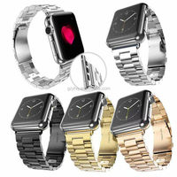 Stainless Steel Watch Band for Apple Watch Band Strap Link Bracelet 38mm 42mm Classical Lock with Adapter
