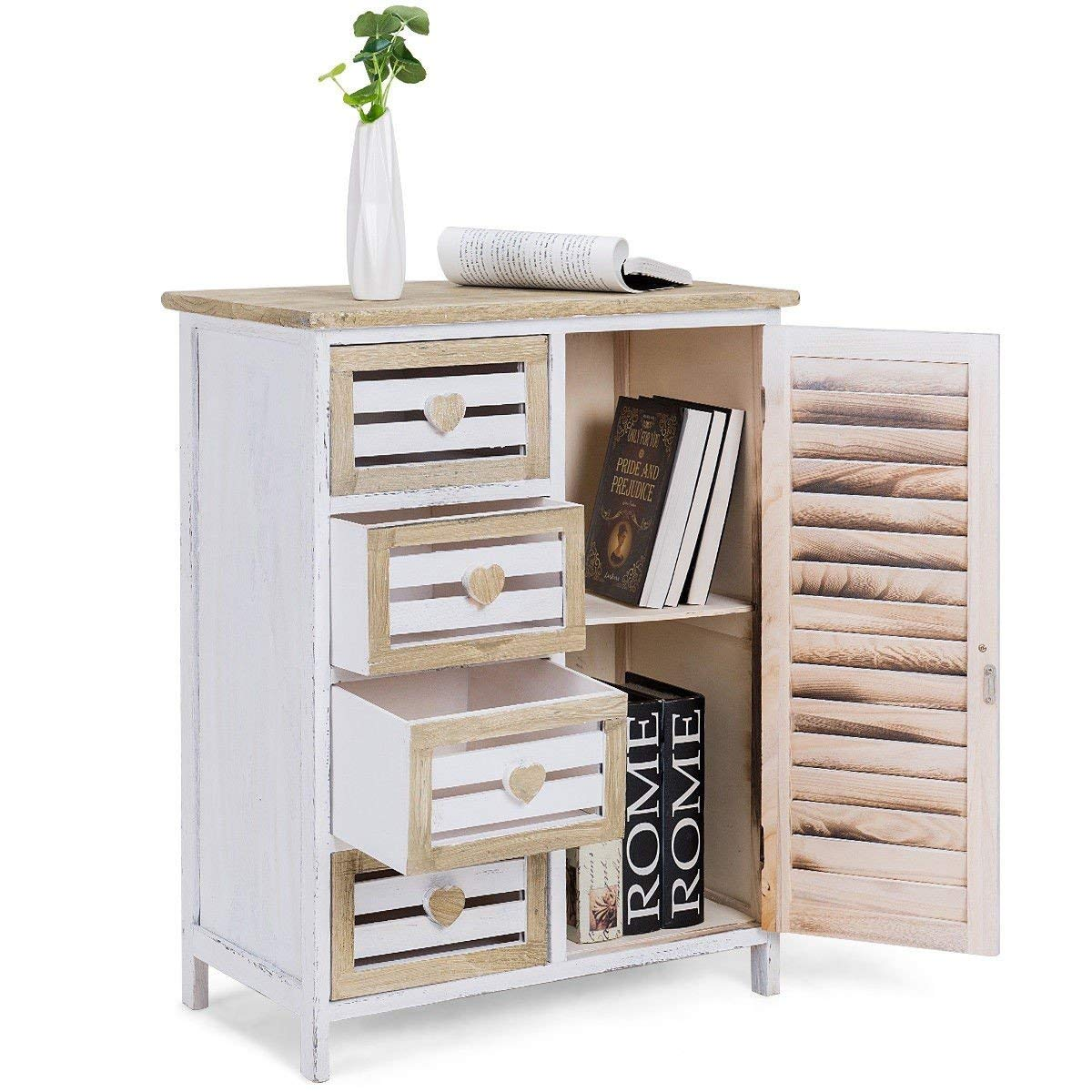 Buy 4 Bin-Type Drawers Wooden Free Standing Storage