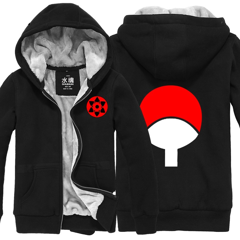 Uchiha Sweater: Naruto Uchiha Sasuke Cotton Padded Jacket Cosplay Hoodie