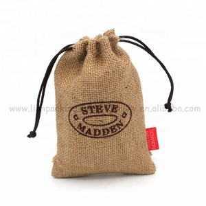 Eco-Friendly Natural plain jute gunny sack burlap cocoa beans coffee bag with label