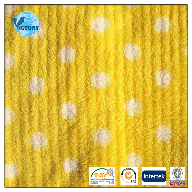 Anti Cold Caps Fabrics Jacquard 100 Polyester Knitted Double Faces Kation Types Fleece Fabric