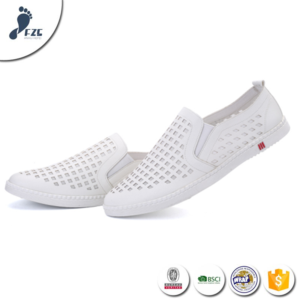 wholesale price men with holes casual loafer shoes