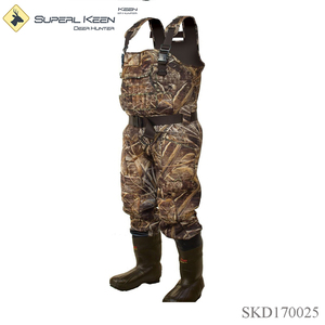 Outdoor Hunting camo neoprene waders with chest pocket