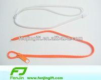 plastic fashion zipper lanyard neck strap