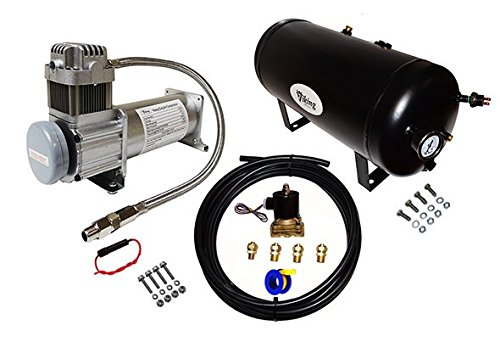 "Viking Horns V103-12/1006ATK On-Board AIR System With 1/2"" Air Hose & Electric Solenoid, 5 Gallon Air Tank and 200 PSI Air Compressor Kit, For Train Air Horns"