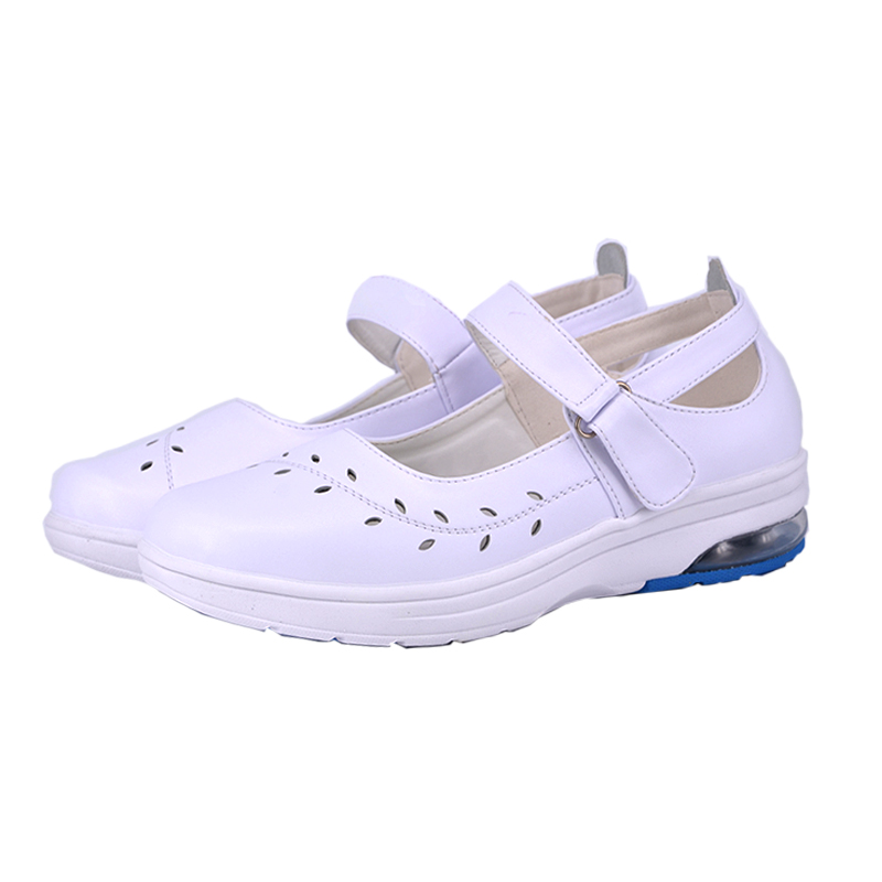 non-slip high quality genuine leather nurse safety women work shoes