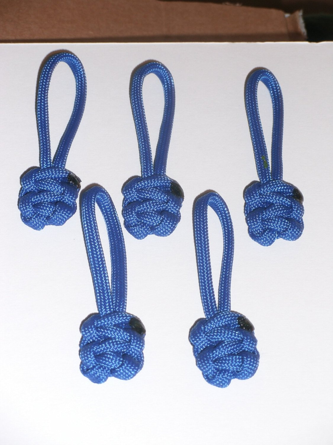 RedVex Paracord Zipper Pulls / Lanyards - Lot of 5 - ~2.5 - Blue