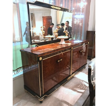 YB69 Top Quality Mahogany Wooden Buffet Cabinet/wooden Carved Living Room Furniture  Cabinet Antique Cupboard