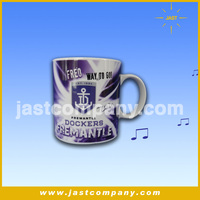 China factory unique design musical travel enamel sublimation mug with patent made in guangzhou of shenzhen