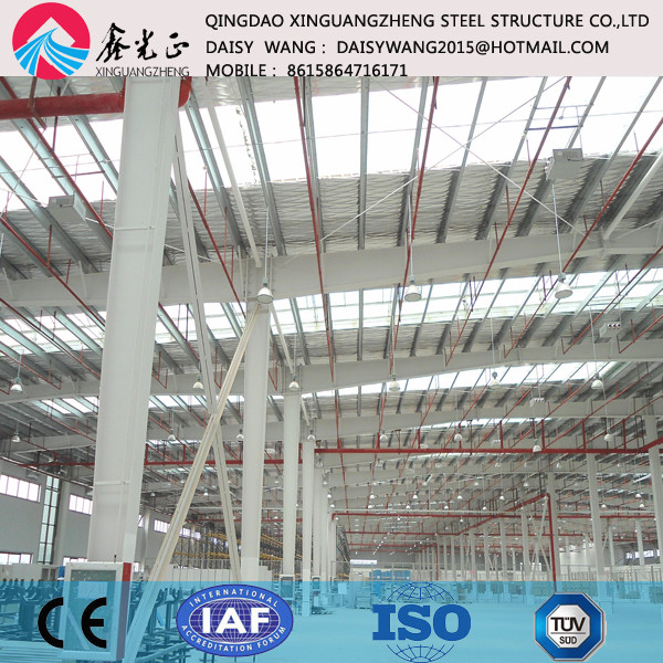 pre engineered sandwich panel steel building for manufacture