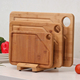 Thick Bamboo Cutting Board Set Large Medium Small W Stand -100% Natural & Eco Friendly Meat Veggie Fruit Bread Chopping Board