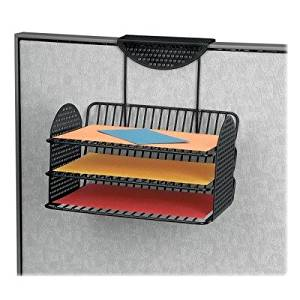 Perf-Ect Partition Additions Three-Tray Organizer, 12 1/8 x 12 3/8, Black by FELLOWES (Catalog Category: Furniture & Accessories / Panel Systems)