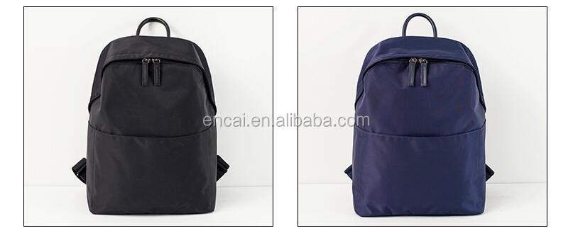 Encai Premium Traveling Backpack Leisure Solid Color Basic Backpack