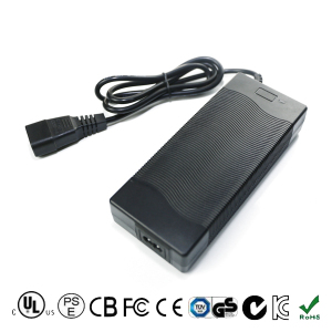 US FCC SAA ROHS CE Approved Charger 43.8V 2A LiFePo4 Battery Charger with Alligator Clip, XLR Plug, etc