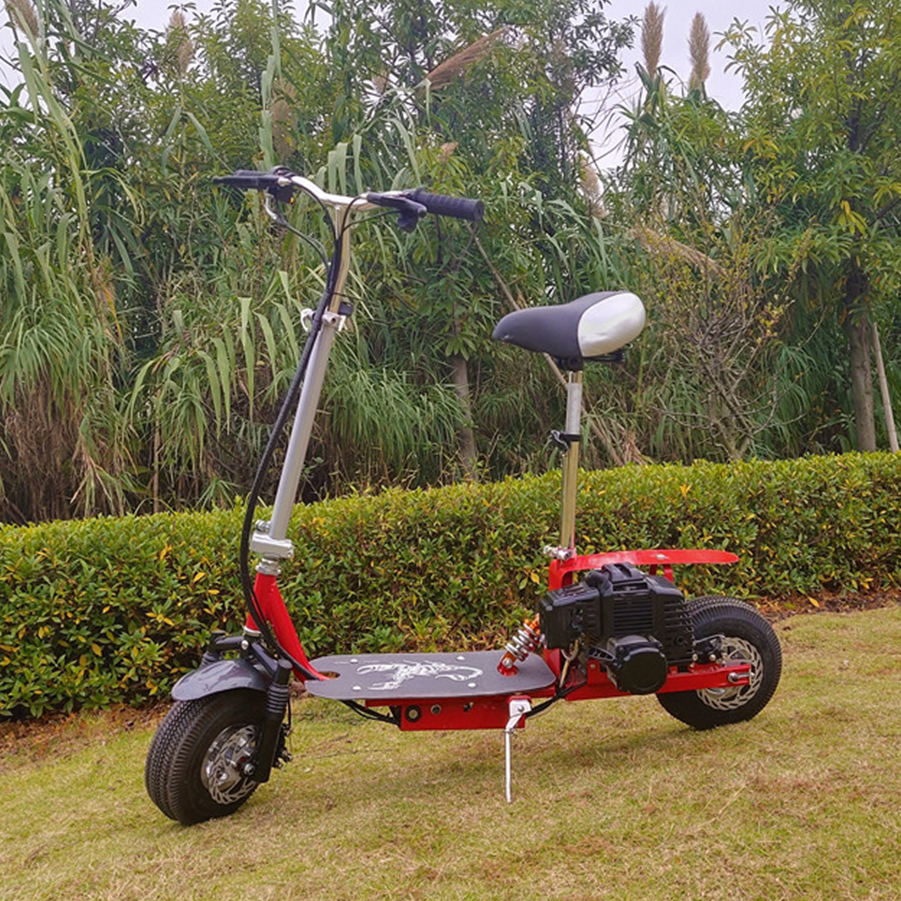 43CC CE Approved Foldable Gas Scooter with Steel Board