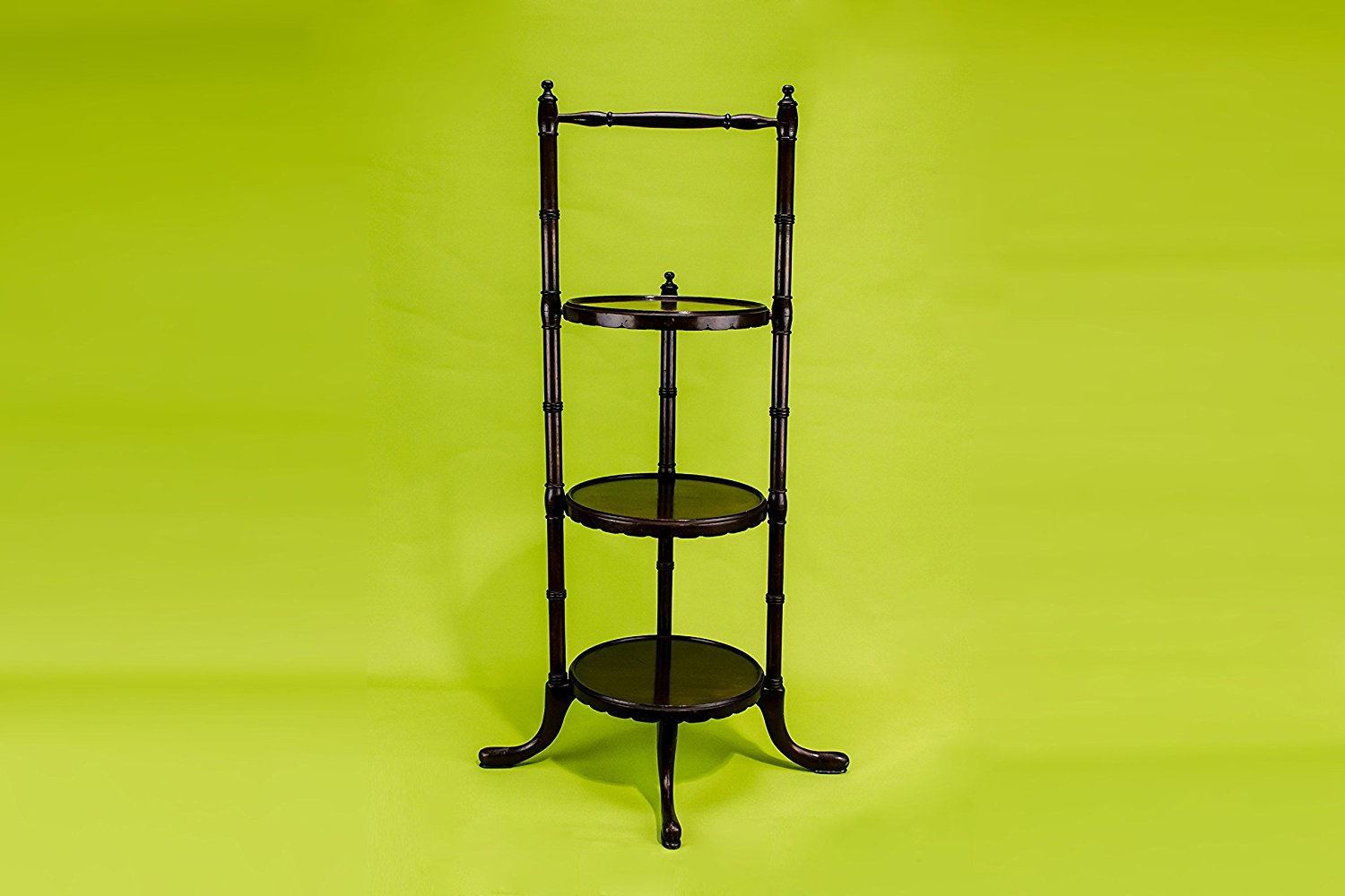 Get Quotations · Mahogany 3 Tier Tea Stand Cake Table Antique English Late  19th Century