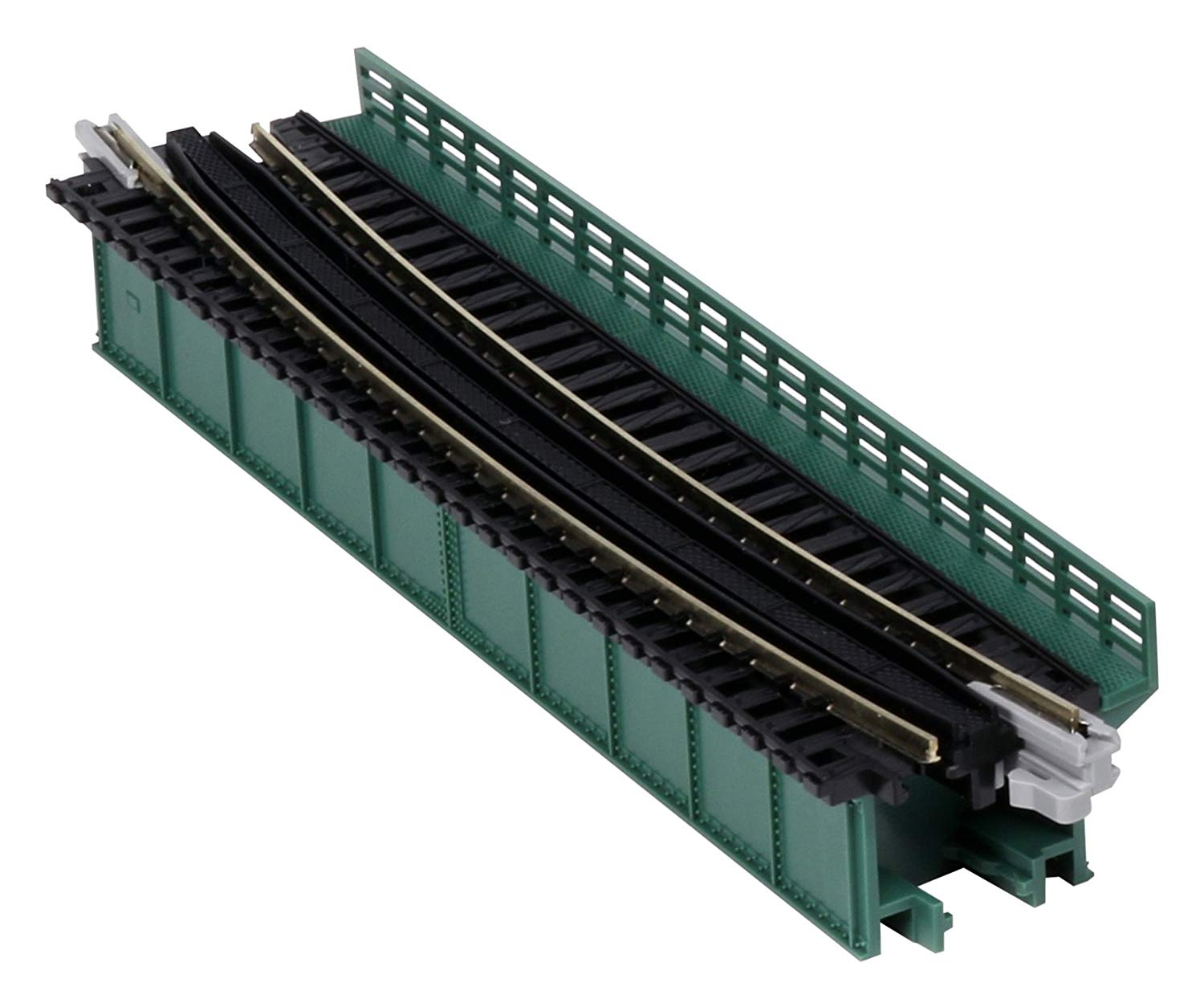 Kato 1/150 single line girder curved bridge r448-15 ° (green) -uni-track- -20-466- Japan used like n