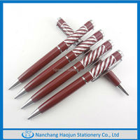 The metal ballpen with metal refill inside