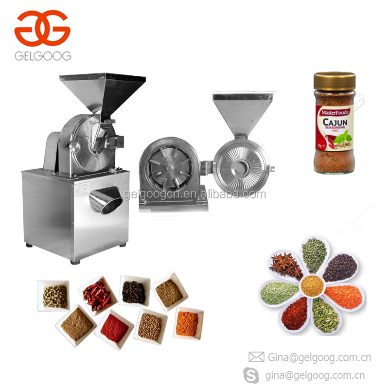 Stainless Steel Pepper Tea Leaf Chili Turmeric Herb Masala Dried Mustard Seeds Grinding Machine