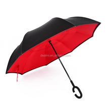 DEMIZXX745 Wholesale Custom Polyester Material Coloful Plus Size Sun Block Western Style C Shape Handle Sun Umbrella