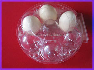 Round plastic 6 cavity egg tray