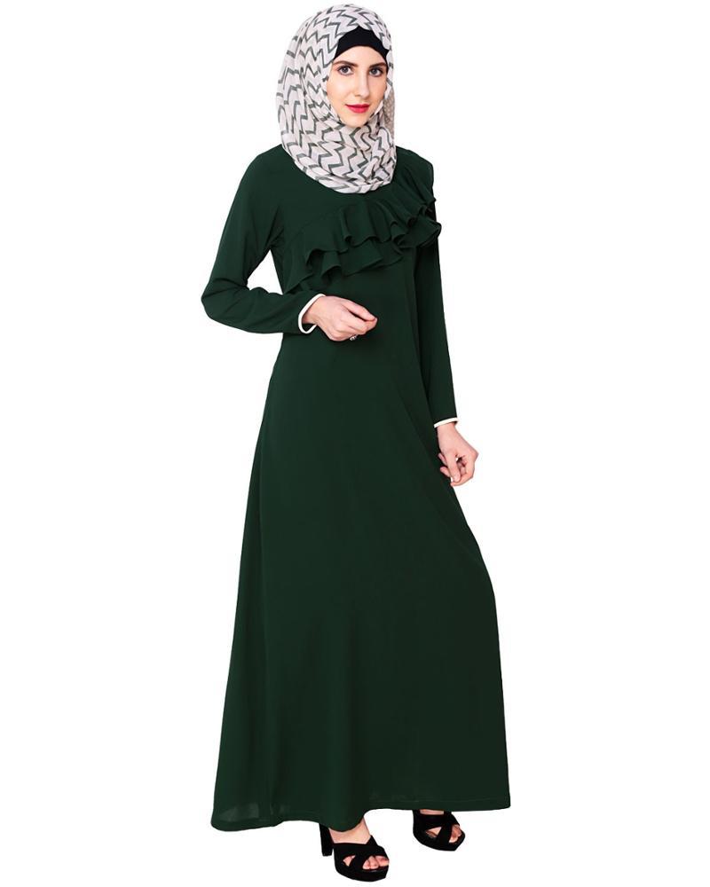 Gewohnheit Stellen Plain Grün Muslim Sommer Kleid,Tasche ...