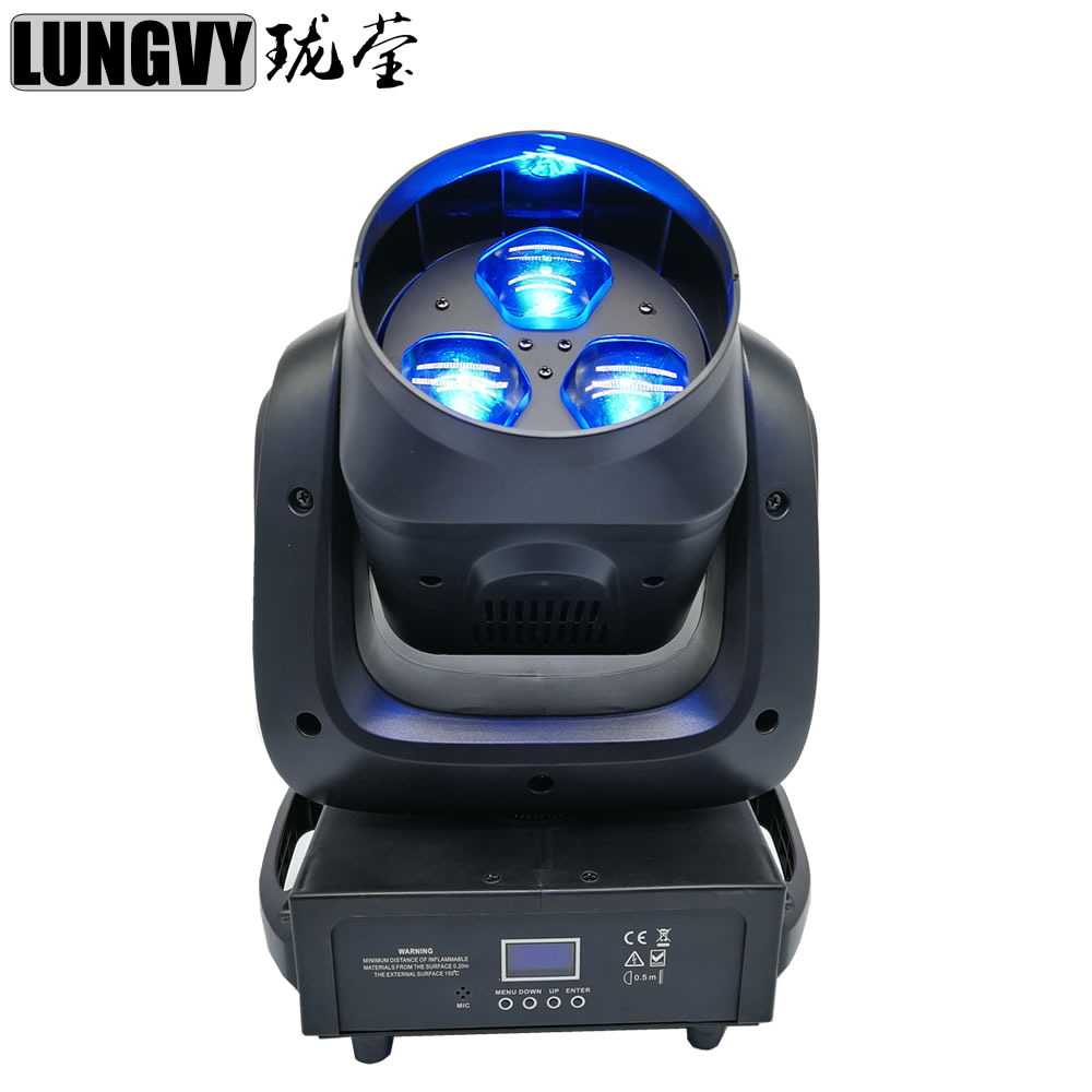 3x40w RGBW 4in1 Bee Eye zoom Led Moving Head Light Professional DJ /Bar /Party /Show /Stage Light
