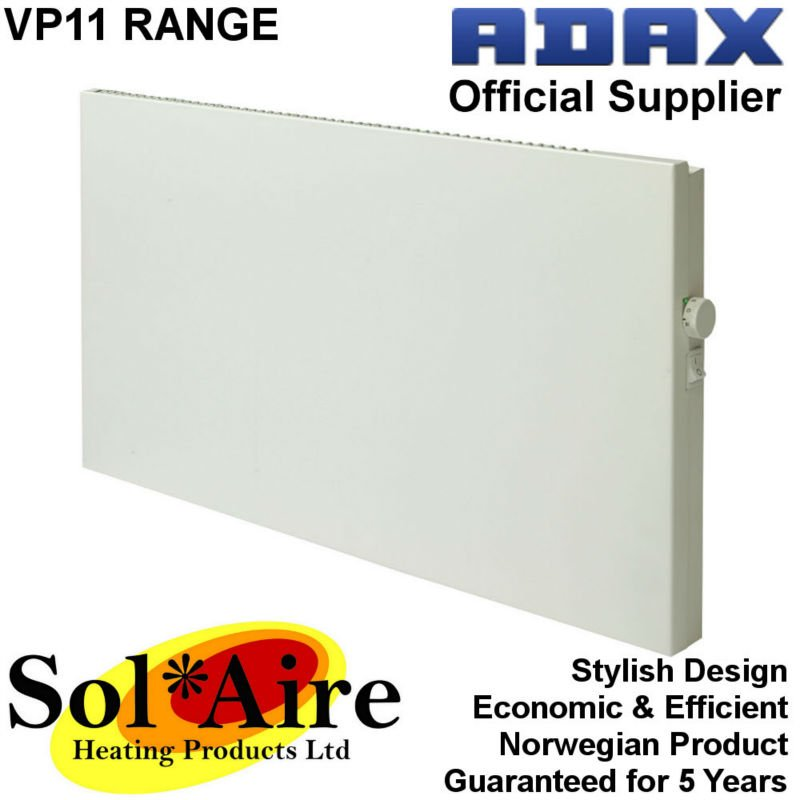 1000w Adax Vp11 Electric Panel Heater Convector Radiator Wall Mounted on
