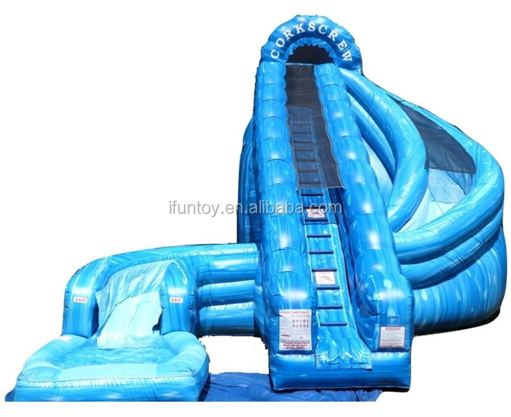 New design Hidden Falls Rock inflatable water slide/ wet dry slide for adult and kids