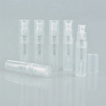 Empty fashion clear mini refillable cosmetic spray bottle