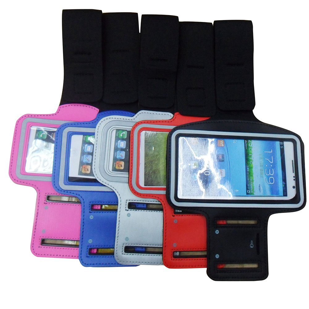 Adjustable pu leather sport armband phone case for Samsung S7